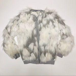 Zara fur jacket (S)